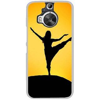 Fuson Designer Phone Back Case Cover HTC One M9 Plus ( Yoga Girl )