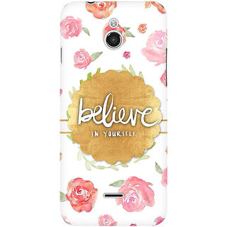 RAYITE Believe In Yourself Premium Printed Mobile Back Case Cover For InFocus M2