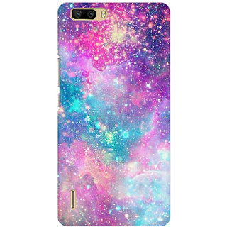 RAYITE Galaxy Print Premium Printed Mobile Back Case Cover For Huawei Honor 6 Plus