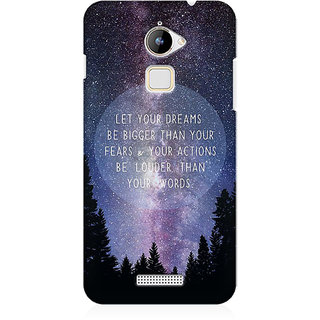 RAYITE Dream Big Premium Printed Mobile Back Case Cover For Coolpad Note 3 Lite