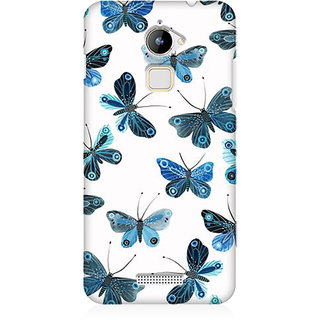 RAYITE Blue Butterfly Premium Printed Mobile Back Case Cover For Coolpad Note 3 Lite