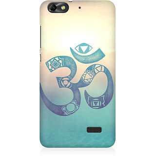 RAYITE Om Print Premium Printed Mobile Back Case Cover For Huawei Honor 4C