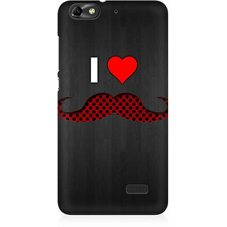 RAYITE I Love Moustache Premium Printed Mobile Back Case Cover For Huawei Honor 4C