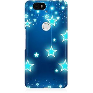 RAYITE Star Pattern Premium Printed Mobile Back Case Cover For Huwaei Nexus 6P