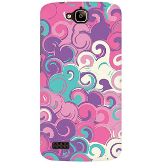 RAYITE Colourful Waves Premium Printed Mobile Back Case Cover For Huawei Honor Holly
