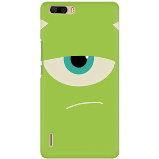 RAYITE Green Monster Premium Printed Mobile Back Case Cover For Huawei Honor 6 Plus