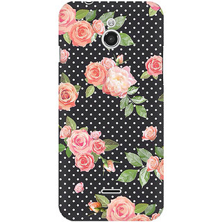 RAYITE Polka Dot Floral Premium Printed Mobile Back Case Cover For InFocus M2