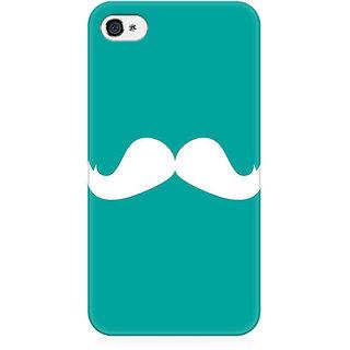 RAYITE Classic Mustache Preum Printed Mobile Back Case Cover For   4/4s