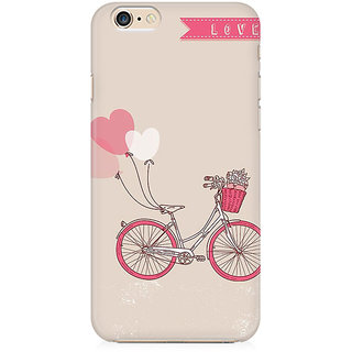 RAYITE Love Bicycle Preum Printed Mobile Back Case Cover For   6 Plus/6s Plus
