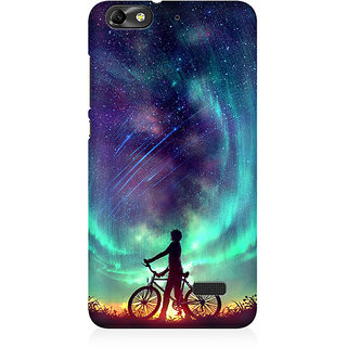 RAYITE Dream On Galaxy Premium Printed Mobile Back Case Cover For Huawei Honor 4C