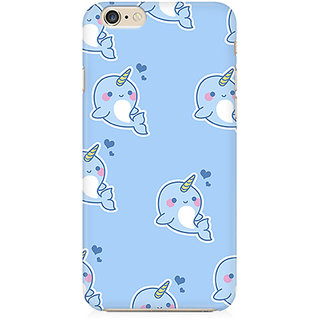 RAYITE Fishicorn Pattern Preum Printed Mobile Back Case Cover For   6/6s