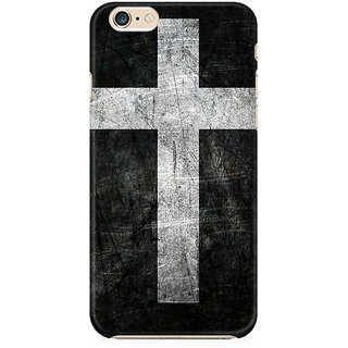 RAYITE Cross Print Preum Printed Mobile Back Case Cover For   6/6s