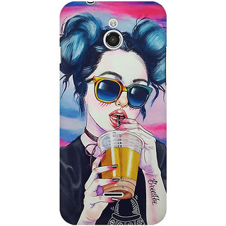 RAYITE Cool Girl Premium Printed Mobile Back Case Cover For InFocus M2