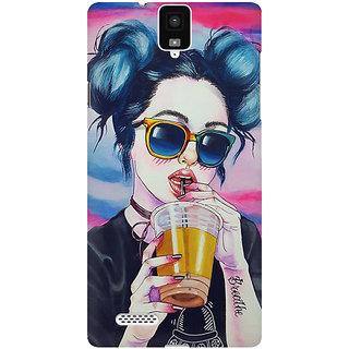 RAYITE Cool Girl Premium Printed Mobile Back Case Cover For InFocus M330