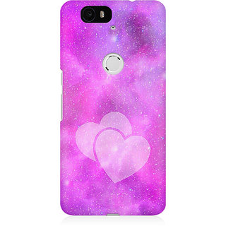 RAYITE Galaxy Heart Premium Printed Mobile Back Case Cover For Huwaei Nexus 6P