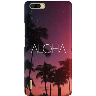 RAYITE Aloha Premium Printed Mobile Back Case Cover For Huawei Honor 6 Plus