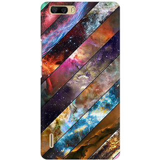 RAYITE Galaxy Wood Pattern Premium Printed Mobile Back Case Cover For Huawei Honor 6 Plus