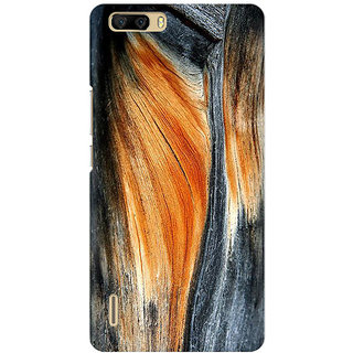 RAYITE Classic Wood Premium Printed Mobile Back Case Cover For Huawei Honor 6 Plus