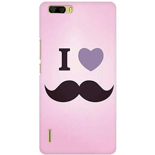 RAYITE I Love Moustache Premium Printed Mobile Back Case Cover For Huawei Honor 6 Plus