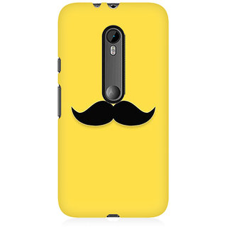 RAYITE Classic Mustache Print Premium Printed Mobile Back Case Cover For Moto X Play