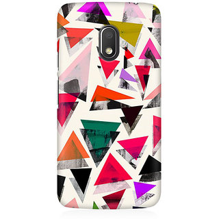 RAYITE Watercolor Triangle Pattern Premium Printed Mobile Back Case Cover For Moto G4 Play