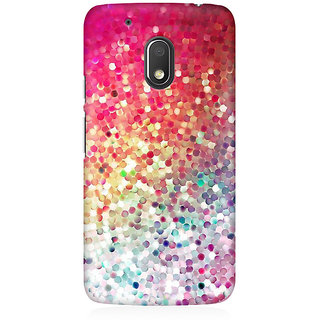 RAYITE Glitter Print Premium Printed Mobile Back Case Cover For Moto G4 Play
