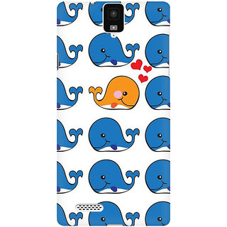RAYITE Whale Pattern Premium Printed Mobile Back Case Cover For InFocus M330