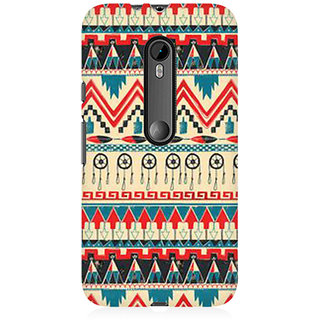 RAYITE Classic Pattern Premium Printed Mobile Back Case Cover For Moto X Force