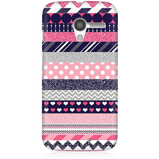 RAYITE Glitter Print Aztec Pattern Premium Printed Mobile Back Case Cover For Moto X