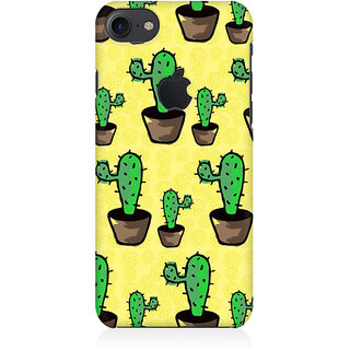 RAYITE Classic Cactus Pattern Preum Printed Mobile Back Case Cover For   7  Logo Cut
