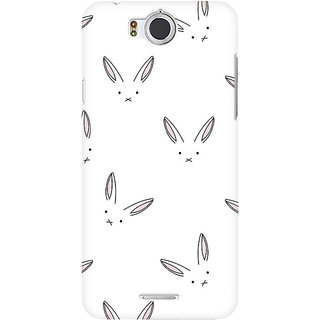RAYITE Rabbit Pattern Premium Printed Mobile Back Case Cover For InFocus M530
