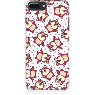 RAYITE Cute Pandas Pattern Preum Printed Mobile Back Case Cover For   7 Plus