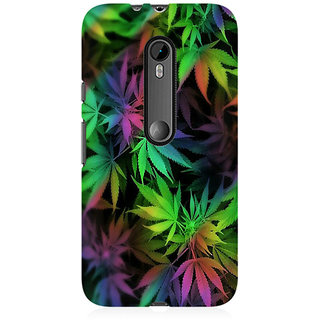 RAYITE Weed Leaf Premium Printed Mobile Back Case Cover For Moto X Style
