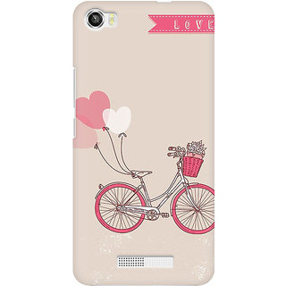 RAYITE Love Bicycle Premium Printed Mobile Back Case Cover For Lava Iris X8