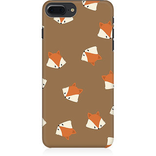 RAYITE Fox Head Pattern Preum Printed Mobile Back Case Cover For   7 Plus