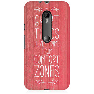 RAYITE Comfort Zone Premium Printed Mobile Back Case Cover For Moto X Force