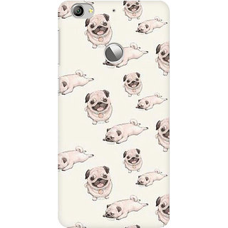 RAYITE Pug Pattern Premium Printed Mobile Back Case Cover For LeEco Le 1s