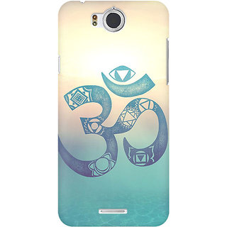 RAYITE Om Print Premium Printed Mobile Back Case Cover For InFocus M530