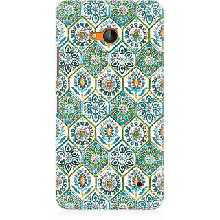 RAYITE Vintage Embroidery Pattern Premium Printed Mobile Back Case Cover For Nokia Lumia 640