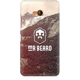 RAYITE Mr Beard Premium Printed Mobile Back Case Cover For Nokia Lumia 640