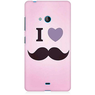 RAYITE I Love Moustache Premium Printed Mobile Back Case Cover For Nokia Lumia 540