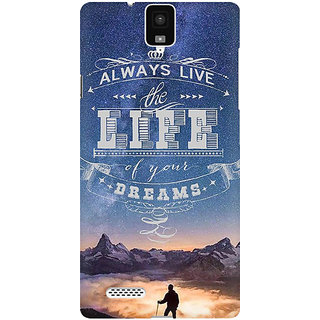 RAYITE Live The Life Of Your Dreams Premium Printed Mobile Back Case Cover For InFocus M330
