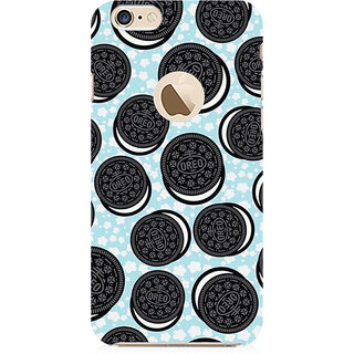 RAYITE Oreo Preum Printed Mobile Back Case Cover For   6-6s With  Hole