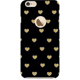 RAYITE Black Hearts Preum Printed Mobile Back Case Cover For   6-6s With  Hole