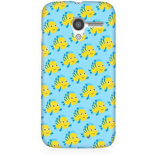 RAYITE Fish Pattern Premium Printed Mobile Back Case Cover For Moto X