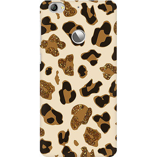RAYITE Glitter Print Cheetah Pattern Premium Printed Mobile Back Case Cover For LeEco Le 1s