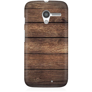 RAYITE Classic Wood Premium Printed Mobile Back Case Cover For Moto X