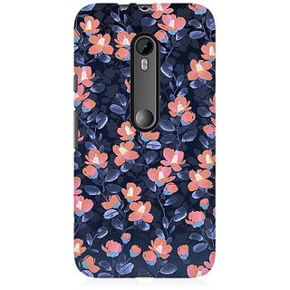 RAYITE Glowing Floral Premium Printed Mobile Back Case Cover For Moto X Style