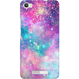 RAYITE Galaxy Print Premium Printed Mobile Back Case Cover For Lava Iris X8