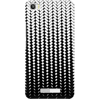 RAYITE Black And White Geometric Premium Printed Mobile Back Case Cover For Lava Iris X8